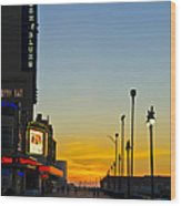 Boardwalk House Of Blues At Sunrise Wood Print