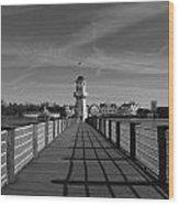 Boardwalk Lighthouse 1 Wood Print