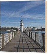 Boardwalk Lighthouse Wood Print