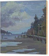 Boardwalk On Vashon Island Wood Print