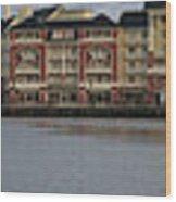 Boardwalk Panorama Walt Disney World Wood Print