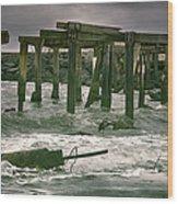 Boardwalk Remnants Wood Print