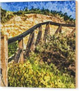 Boardwalk Steps Wood Print by Anthony Citro