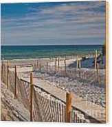 Boardwalk To Cape Cod Bay Wood Print