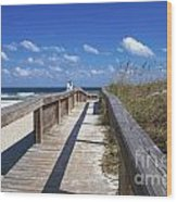 Boardwalk To Paradise Wood Print
