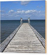 Boardwalk To The Ocean Wood Print