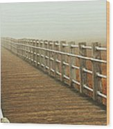 Boardwalk To The Unknown Wood Print