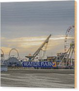 Boardwalk Waterpark Wildwood New Jersey Wood Print