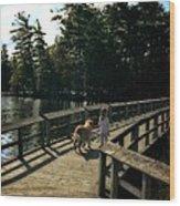 Boardwalking Wood Print