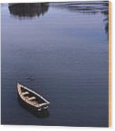 Boat And A Cross Wood Print by Skip Willits