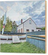 Boat And Oars Wood Print by Eric Gendron