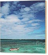 Boat And Sea Wood Print