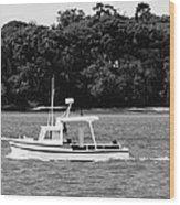 Boat And Tender At Coochiemudlo Island Wood Print
