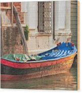 Boat At Rest Wood Print