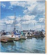Boat - Boat Basin Fells Point Wood Print