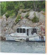 Boat Break Wood Print