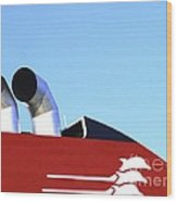 Boat Chimneys Wood Print by Eleni Mac Synodinos