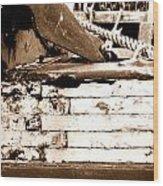 Boat Detail Wood Print
