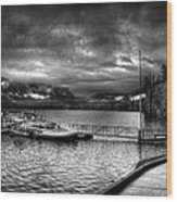 Boat Dock At Sperry Chalet 2 Wood Print