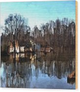 Boat House 2 Wood Print