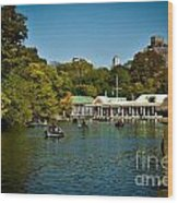 Boat House Central Park New York Wood Print by Amy Cicconi