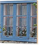 Boat House Windows Wood Print
