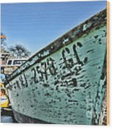 Boat - In A State Of Decay Wood Print by Paul Ward