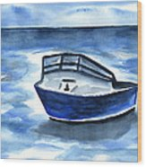 Boat In Grand Cayman Wood Print