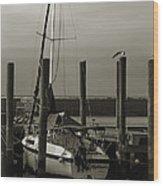 Boat Wood Print by Jennifer Burley