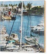 Boat - King's Wharf Bermuda Wood Print