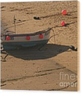 Boat On Beach 04 Wood Print by Pixel Chimp