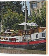 Boat On Canal Du Midi Homps France Dsc01717  Wood Print