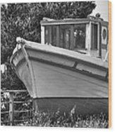 Boat Out Of The Water Wood Print