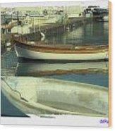 Boat Pier Wood Print