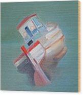 Boat Retired  Tavira Wood Print
