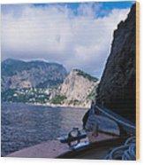 Boat Ride To Capri Wood Print