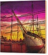 Boat - Sailing - Fleet Week Wood Print by Mike Savad