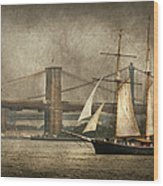 Boat - Sailing - Govenors Island Ny - Clipper City Wood Print