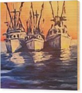 Boat Series 1 Second Edition Wood Print