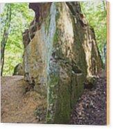 Boat-shaped Rock Wildcat Den State Park Wood Print
