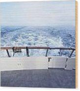Boat Stern Wood Print