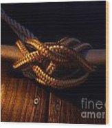 Boat Tie Wood Print