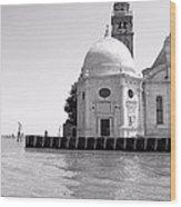 Boat To Murano Wood Print