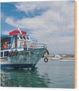 Boat To Tavira Island Wood Print