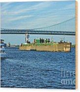 Boat Traffic Wood Print