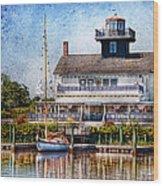 Boat - Tuckerton Seaport - Tuckerton Lighthouse Wood Print