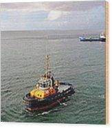Boat - Tugboat Barbados II Wood Print