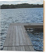Boatdock-right Wood Print