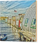 Boathouse Alley Wood Print