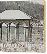 Boathouse Pavilion Wood Print